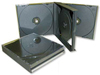 Multipack 4 CD con tray interni neri/traparenti